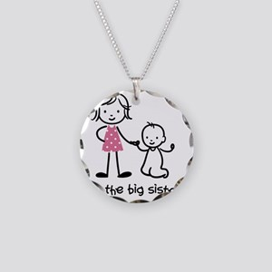 Stick Necklace Circle Charm