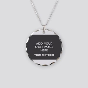 Add Your Own Image Necklace Circle Charm