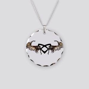 Angelic Wings - Necklace Circle Charm