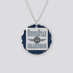 Blanket Blue Jean superstar Necklace Circle Charm