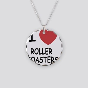 ROLLER_COASTERS Necklace Circle Charm