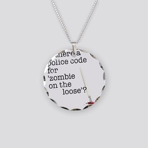 zombie on the loose Necklace Circle Charm