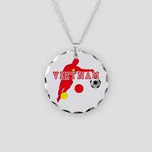 Vietnam Football Player Necklace Circle Charm
