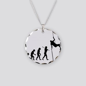 Rock Climbing 1 Necklace Circle Charm