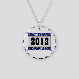 I Qualified Bib - 2012 Necklace Circle Charm