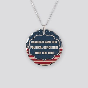Personalized USA President Necklace Circle Charm