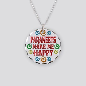 Parakeet Happiness Necklace Circle Charm