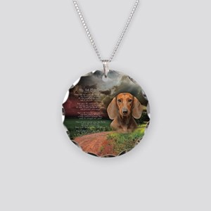 """Why God Made Dogs"" Dachshund Necklace Circle Char"