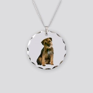 Border Terrier #1 Necklace Circle Charm