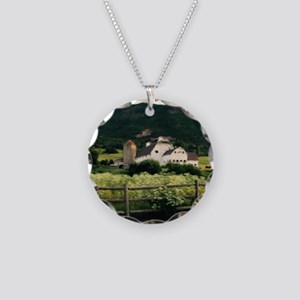 Park City Scene by LH Necklace Circle Charm