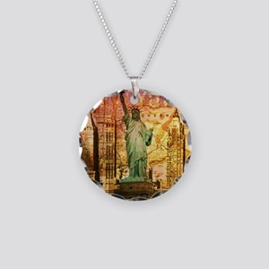 cool statue of liberty Necklace Circle Charm