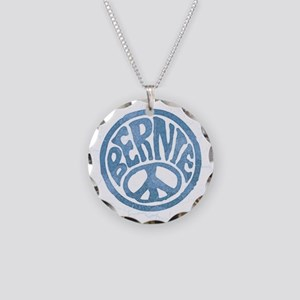 60s Peace Bernie Necklace Circle Charm