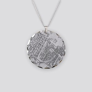 Vintage Map of Stuttgart Ger Necklace Circle Charm