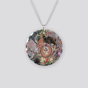 8575_africa_cartoon Necklace Circle Charm