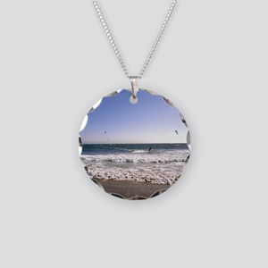 Windsurfer at the seaside Necklace Circle Charm