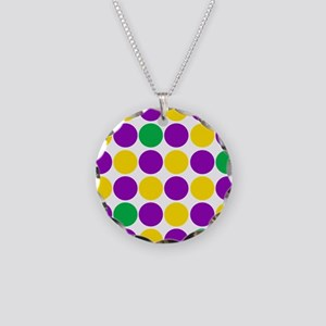 circles purple green gold Necklace Circle Charm