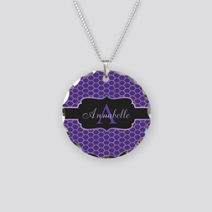 Purple Mermaid Scale Monogram Necklace
