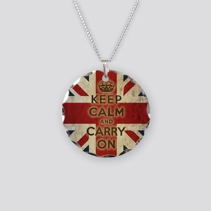 Vintage Keep Calm Necklace Circle Charm