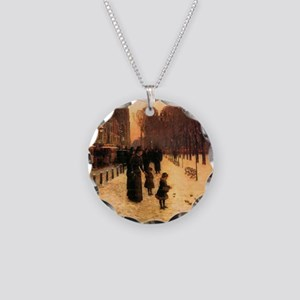Childe Hassam Boston In Ever Necklace Circle Charm