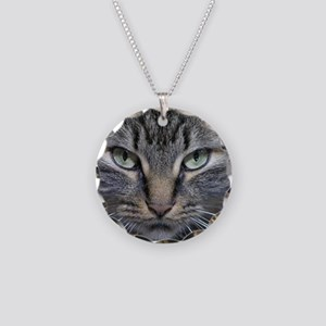 Main Coon Kitty Cat Necklace Circle Charm