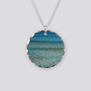 Ocean001 Necklace Circle Charm