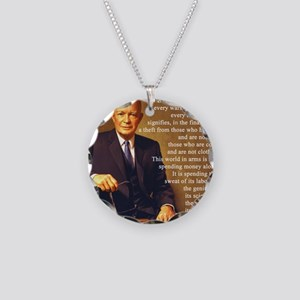Eisenhower Every Gun 1 Necklace Circle Charm