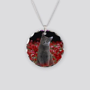 russian blue for Tote bag Necklace Circle Charm