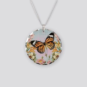 Modern Vintage Monarch butterfly Necklace