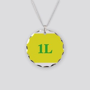 1L Gold/Green Necklace Circle Charm