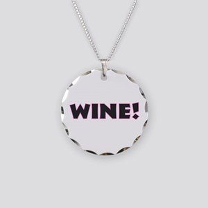 Wine Necklace Circle Charm