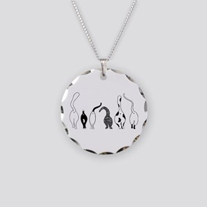 Cat Butts Necklace Circle Charm