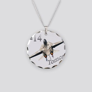 F-14 Necklace Circle Charm