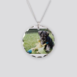 miniature schnauzer puppy 2 Necklace