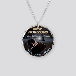 Extended Mission Logo Necklace Circle Charm