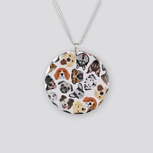 Illustration Pattern sweet D Necklace Circle Charm