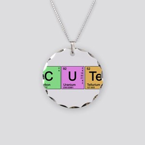Cute Periodic Necklace Circle Charm