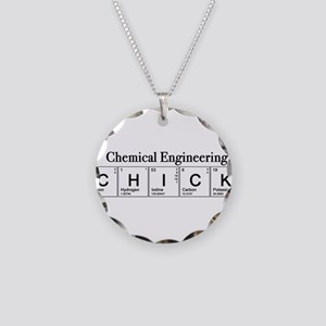 Chemical Engineering Chick Necklace Circle Charm