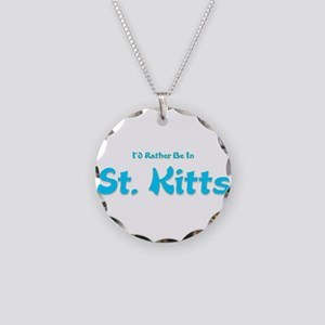 Id Rather Be...St. Kitts Necklace Circle Charm