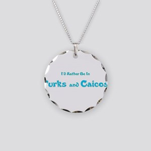 Id Rather Be...Turks and Caicos Necklace Circl