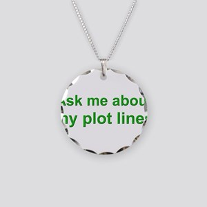 askplotlines_green_bs Necklace Circle Charm