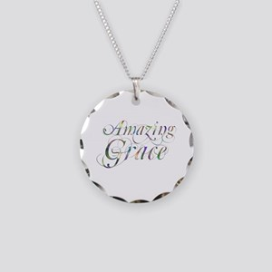 Amazing Grace Necklace Circle Charm