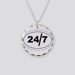 24/7 Necklace Circle Charm
