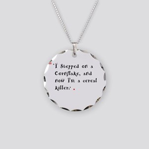 funny things Necklace Circle Charm
