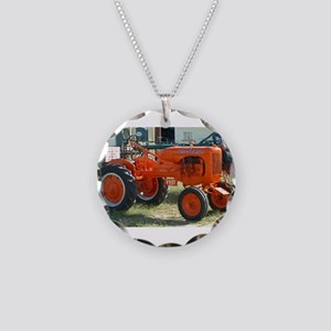 1937 Allis Chalmer Tractor Necklace Circle Charm