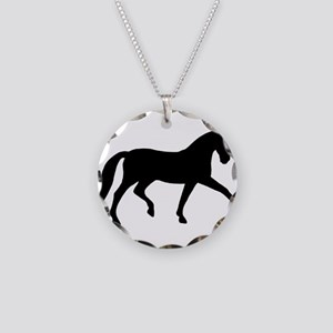 dressage extended trot Necklace Circle Charm