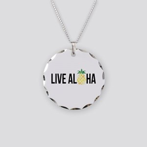 Live Aloha Necklace Circle Charm