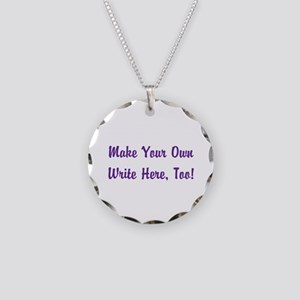Make Your Own Cursive Saying Necklace Circle Charm