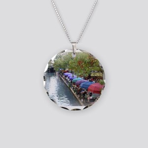 The Riverwalk in Art Necklace Circle Charm