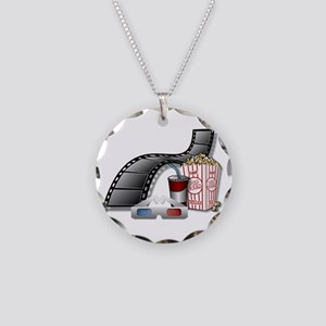 Cool 3D Movie Cinema Necklace Circle Charm
