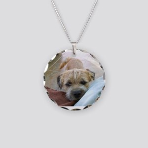 border terrier begging Necklace